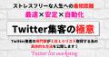 Twitter集客の極意~Twitter list marketingで、最速×安定×自動化